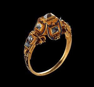 diamond point cut diamond ring