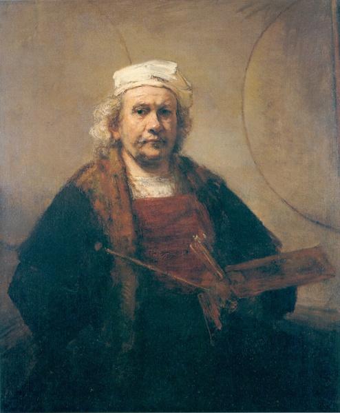 Rembrandt selfie 1665-9