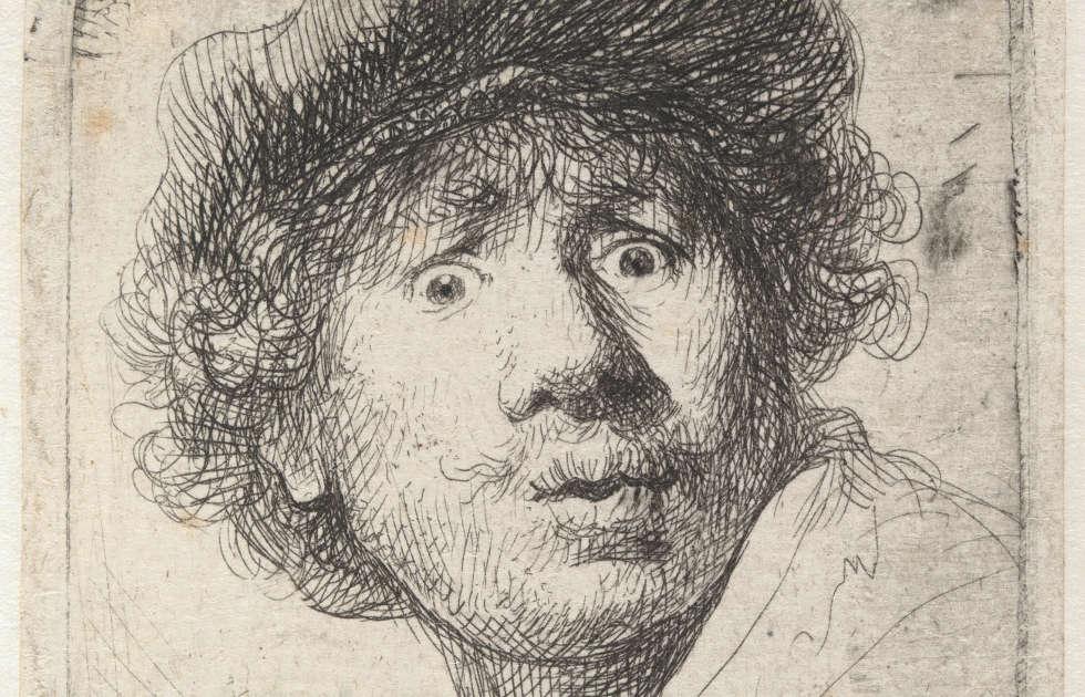 Rembrandt selfie tronie 1630