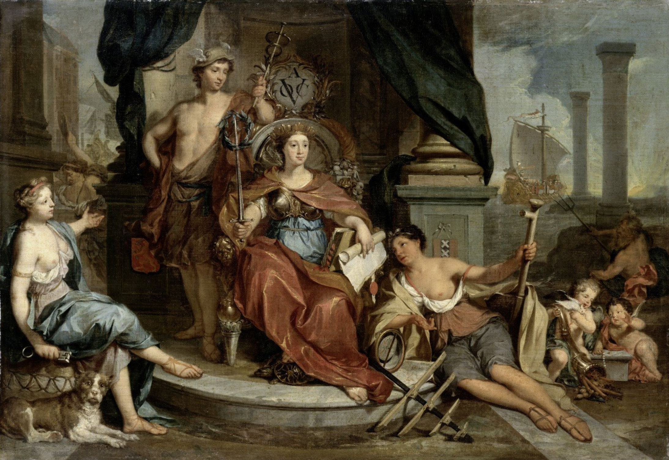 apotheosis of the voc Nicolaas Verkolje