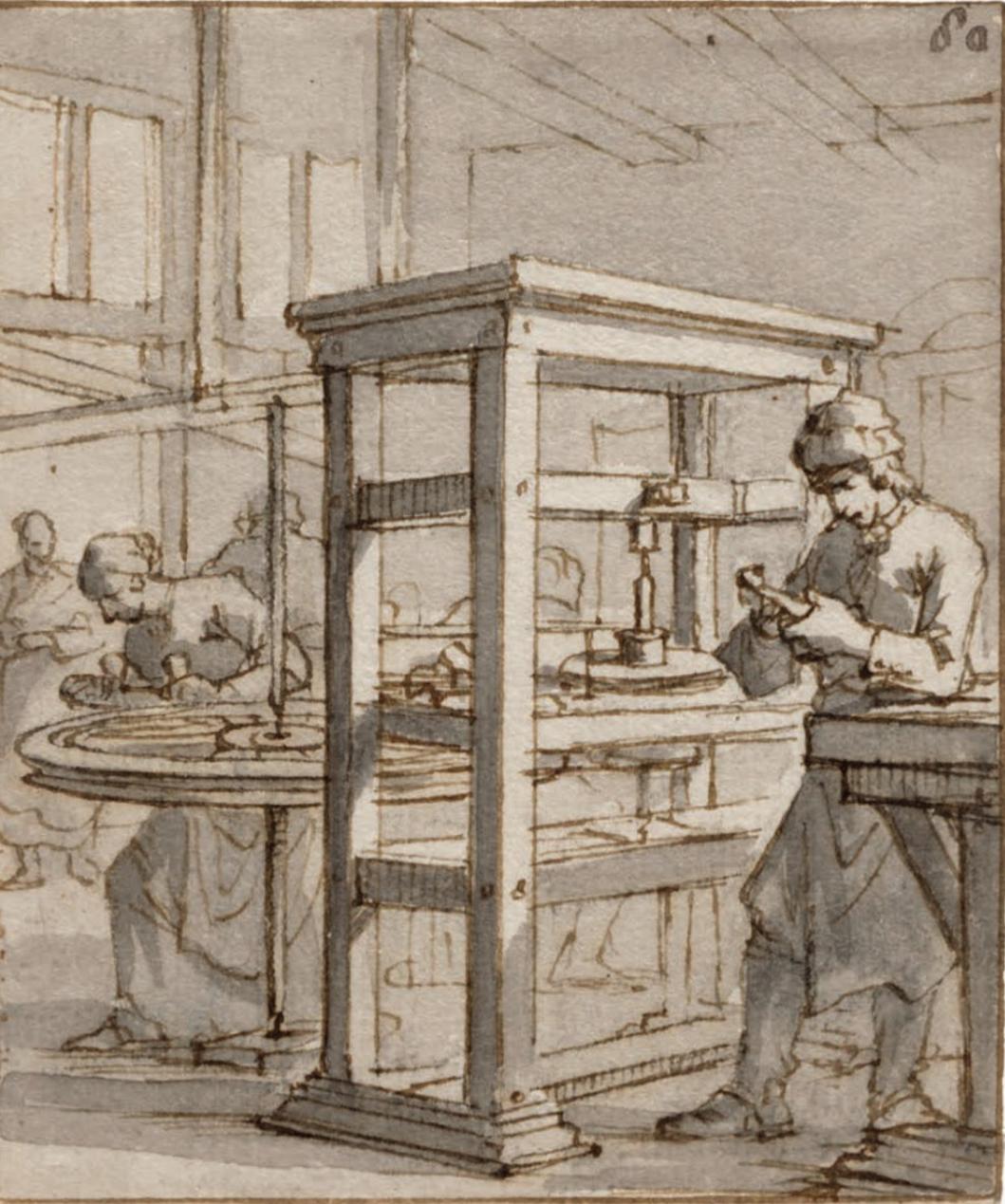 diamond cutting shop in amsterdam 1694