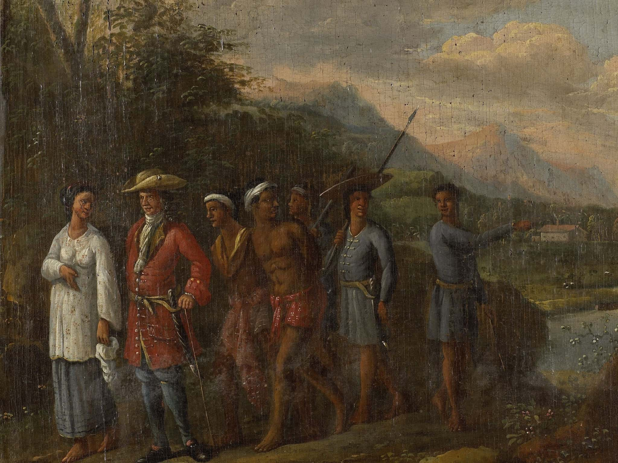 Dutch trader with slaves