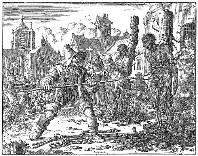 Mennoites executed by Catholics in Ghent 1554